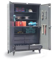 Pegboard Cabinet Doors by Strong Hold Products Industrial Storage Cabinet With Pegboard Doors