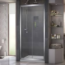 Infold Shower Door by Dreamline Butterfly 36 In X 36 In X 76 75 In Framed Sliding