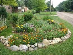 Rock Garden Beds Rock Border For Landscaping Onlinemarketing24 Club