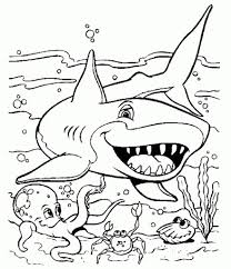 coloring pages of sharks regarding residence cool coloring pages