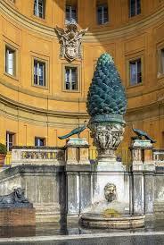 cortile della pigna della pigna vaticano di cortile fotografia stock immagine di