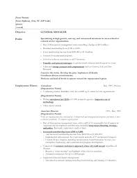 Profile Part Of A Resume Sample Resume For Event Manager Example Of A Objective On A Resume