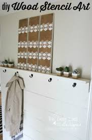 diy stencil wall art from scrap wood designer trapped