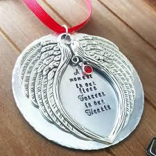 Christmas Decorations Angel Wings memorial angel wing christmas ornament u2013 dreamwillowstudio