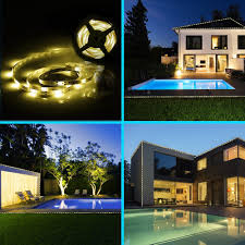 String Lights Over Pool by Amazon Com Solar Strip Lights Grde 16 4 Feet Led Flexible And