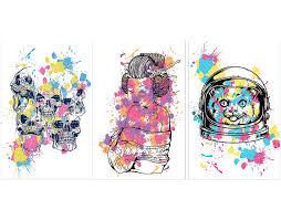 graphic skull t shirt prints set free