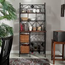 Wood Bakers Racks Furniture Bakers Racks To Your Kitchen Design Ideas With Decors