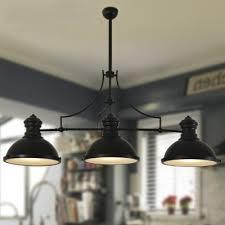 Black Island Light Attractive Three Light Pendant Three Light Pool Table Light Linear