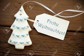 a blue german frohe weihnachten which means merry