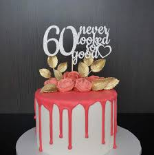 60 cake topper any age 60th birthday cake topper 60 never looked so 60th