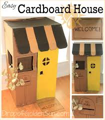 easy cardboard house drop of golden sun designs