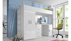 meuble chambre enfant lit combiné avec bureau et armoire camille meuble chambre enfant