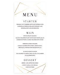 geometric wedding menu card template instant download u2013 papersizzle