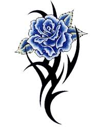 blue rose with tribal tattoo jpg 480 622 dibujos en colores