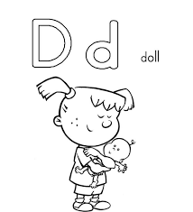 d colouring d for dice printable alphabet coloring pages