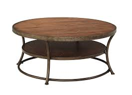 Round Coffee Table With Shelf Furniture Round Vintage Wooden Cocktail Table With Shelf And
