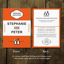 Wedpics Invite Cards Penguin Classic Wedding Invitations And Save The Date Classic