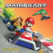 super mario thanksgiving mario kart 2017 wall calendar nintendo 9781419720406 amazon com