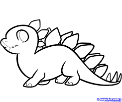 dinosaur drawings for kids how to draw a stegosaurus for kids