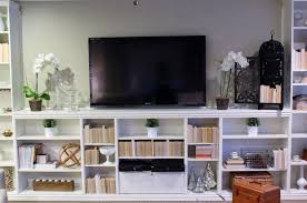furniture appealing ikea billy bookcase with tv and cozy pergo tv