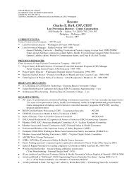 Resume Samples Summary Of Qualifications by Professional General Construction Project Manager Resume With Top