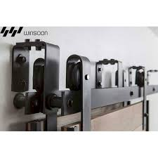 Ceiling Mount Door Track by Winsoon 5 16ft Bypass Sliding Barn Door Hardware Double Track Kit
