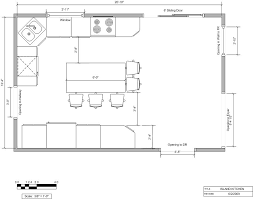 Small Kitchen Floor Plans Modest Kitchen Floor Plans Modern For Patio View In Small Kitchen