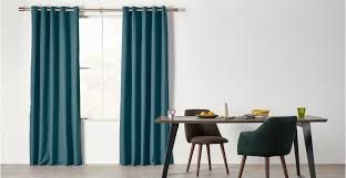 Teal Curtains Solar Eyelet Pair Of Curtains Teal Blue 228 X 228cm Made