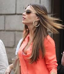peekaboo blouse sofia vergara s billowy shirt keeps blowing open to reveal bra