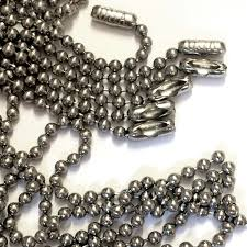 stainless steel ball necklace images Vintage ball chain stainless steel chain 03771 22 inches steel jpg