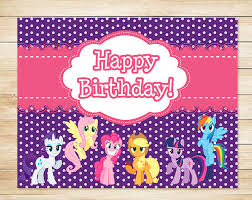 Mlp Birthday Card Free My Little Pony Printables