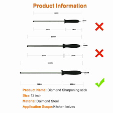 600 diamond steel whetstone sharpening rod with abs handle knife