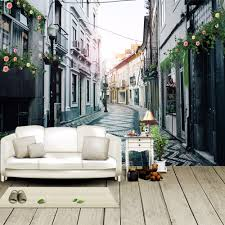online get cheap fabric wall murals aliexpress com alibaba group custom photo european style retro street architecture living room sofa tv background wall murals wallpaper for