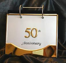 50th anniversary photo album 50th golden wedding anniversary photo album expandable album
