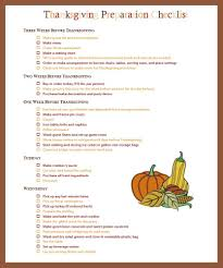 thanksgiving checklist and hostess tips