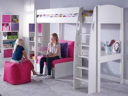 High Sleeper With Futon And Desk Children U0027s High Sleeper Beds