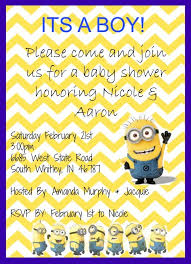 minion baby shower templates free printable minion baby shower invitations also