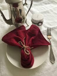 wedding napkins burgundy 8 linen napkins christmas table cloth napkins