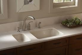 Kitchen Ideas Decor Kitchen Undermount Sinks With Brown Wooden Floor And Small Glass