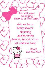 kitty baby shower invitations baby kitty invitations