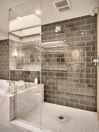 Tile Shower Bathroom Ideas Bed Bath Subway Tile Bathroom Ideas With Mosaic Tile Flooring