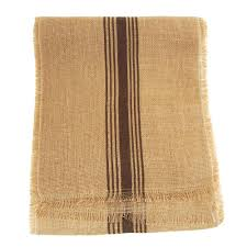 natural burlap table runner natural burlap table runner with brown striped 12 1 2 inch 9 feet