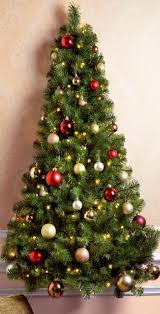 gorgeous image of outdoor prelit small lighted christmas tree as