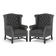linen club chair tov furniture tov 63102 grey fairfield linen club chair in grey