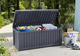 keter rockwood storage box brown 289 00 landera outdoor