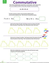 properties of multiplication commutative worksheet education com