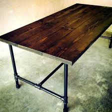 wood and pipe table galvanized pipe table the kitchen table handmade wood and galvanized