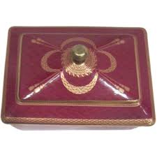 neiman deck cards in porcelain box from