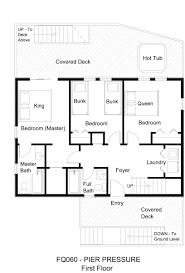 open plan bungalow floor plans oceanfront vacation rental pier pressure