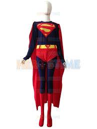 free shipping 2015 new style superman lycra spandex costume zentai